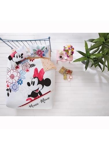 Taç Taç Disney Minnie Mouse Watercolour Çift Kişilik Nevresim Takımı Renkli